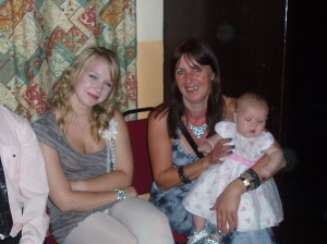 Tricky Dicky standing behind Linda and Dancing Queen loving the Baby!