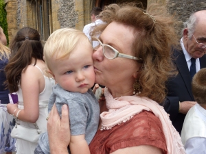 Sister Sandra with her lovely grandson Arthur